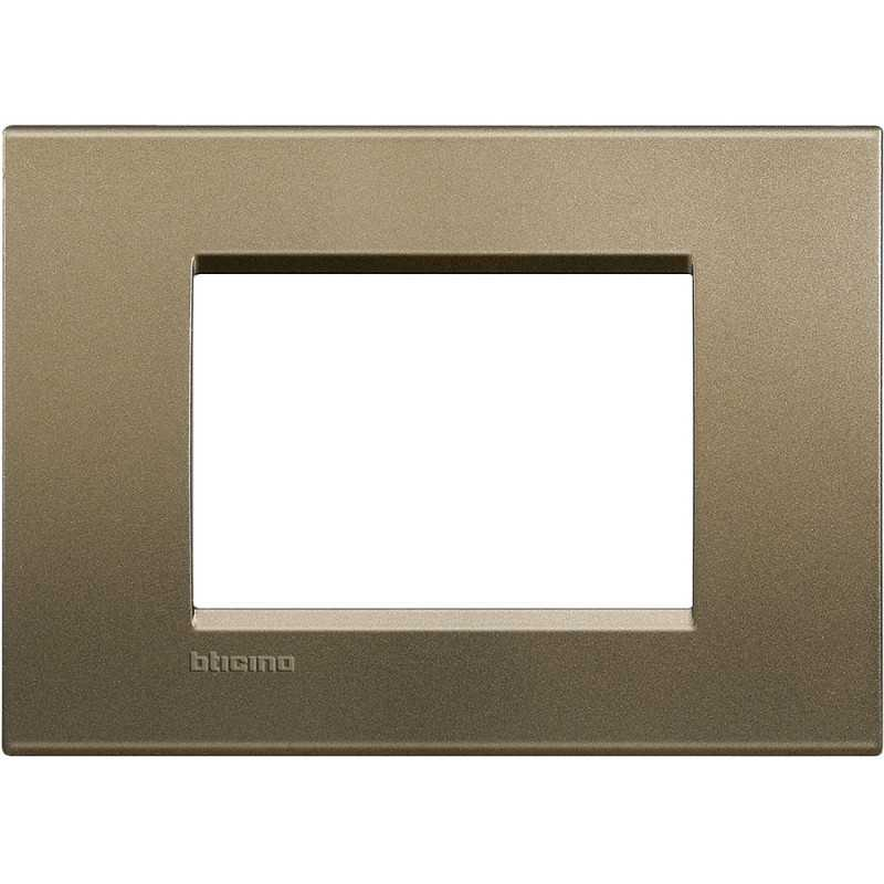Placca 3 posti quadra square LivingLight Bticino LNA4803SQ