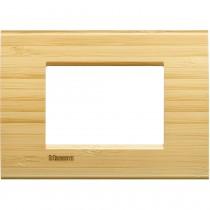 Placca 3 posti quadra bamboo LivingLight Bticino LNA4803LBA