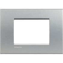 Placca 3 posti quadra tech LivingLight Bticino LNA4803TE