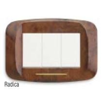 """Placca in metallo """"Banquise"""" Radica lucida"""