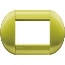 Placca 3 posti tonda citron LivingLight Bticino LNB4803CT
