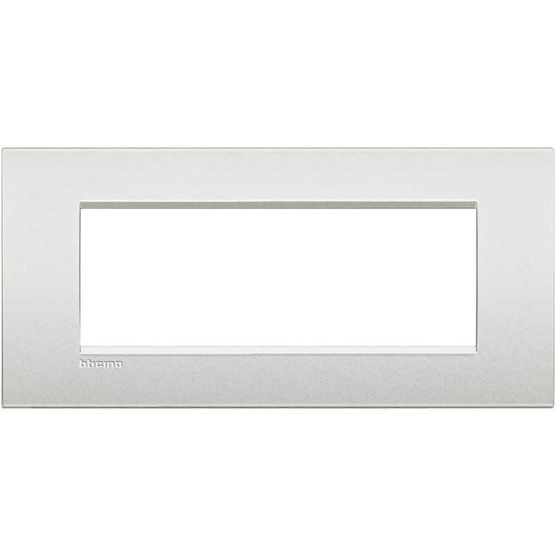 Placca 7 posti quadra bianco perla LivingLight Air Bticino LNC4807PR