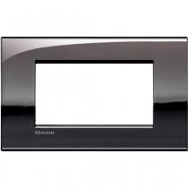 Placca 4 posti peltro lucido LivingLight Air Bticino LNC4804PT