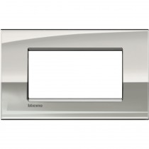 Placca 4 posti palladio LivingLight Air Bticino LNC4804PL