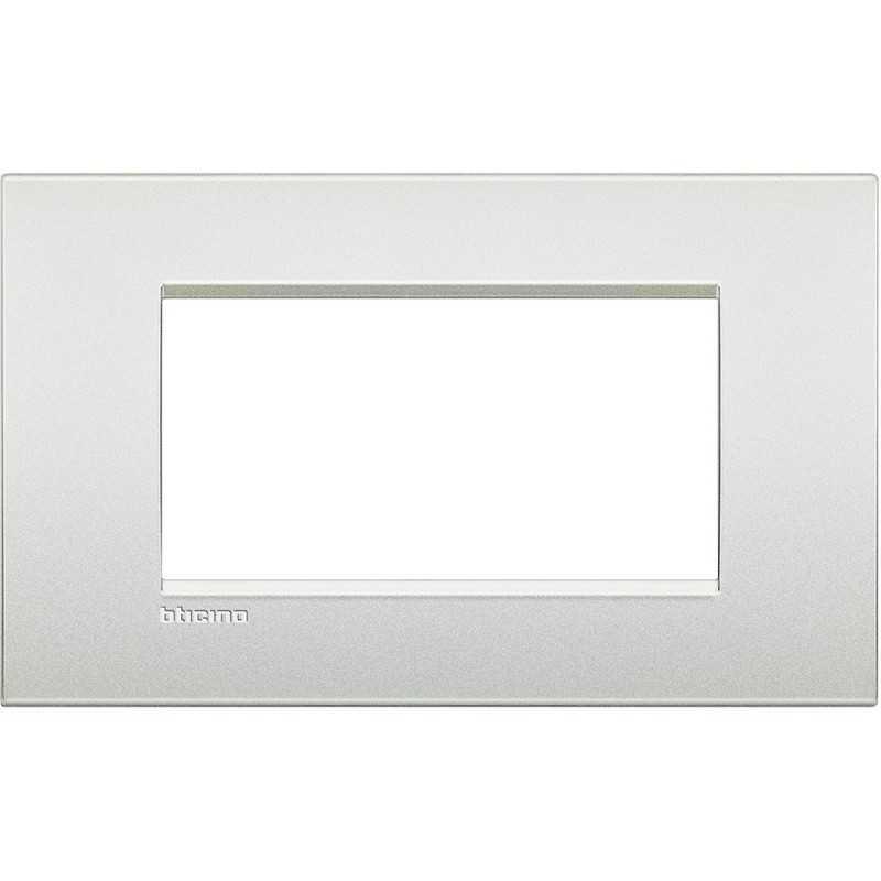 Placca 4 posti bianco perla LivingLight Air Bticino LNC4804PR