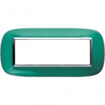 Placca Bticino Axolute 6 moduli Verde Liquid HB4806DV