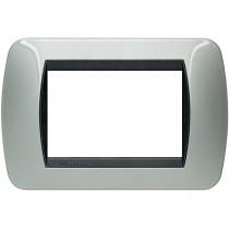 Placca 3 posti alluminio LivingLight International Bticino L4803AL