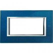 Placca Bticino Axolute 4 moduli Blu Meissen HA4804BM