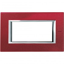 Placca Bticino Axolute 4 moduli Rosso China HA4804RC