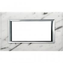Placca Bticino Axolute 4 moduli Marmo Carrara HA4804RMC