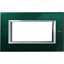 Placca Bticino Axolute 4 moduli verde sevres HA4804VS