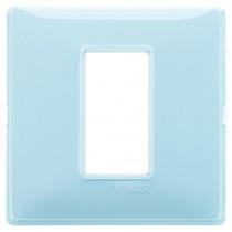 Placca Vimar Plana 1 modulo Reflex acqua in tecnopolimero 14641.45