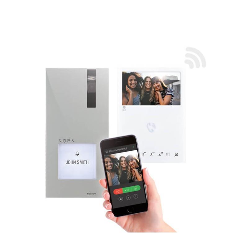 Kit Quadra e Mini HF Wi-fi con Riconoscimento Facciale Comelit 8451V