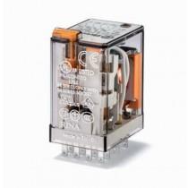 Relè industriale terminali faston  bobina 24V DC 4 contatti 7 A Finder 55349024