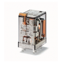 Relè industriale terminali Faston bobina 12V AC 2 contatti 10A Finder 553280120054