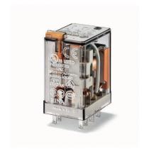 Relè industriale terminali Faston bobina 24V AC 2 contatti 10A Finder 553280240054