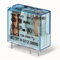 Relè industriale terminali Faston bobina 12V DC 1 contatto 10A Finder 403190120000
