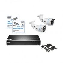 Kit 2 telecamere con HVR AHD 4 canali compedo di Hard Disk