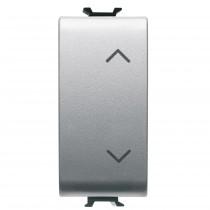 Commutatore Unipolare con simbolo su e giu' Titanio GW14121