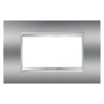 Placca Lux Cromo 4 Posti GW16204MC