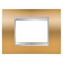 Placca Lux Oro 3 Posti GW16203MO