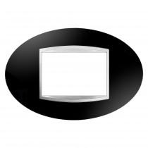 Placca Art Nero Toner 3 Posti GW16303TN