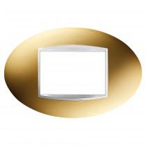Placca Art Oro 3 Posti GW16303MO