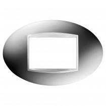 Placca Art Cromo 3 Posti GW16303MC
