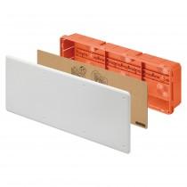 Cassetta di Derivazione da Incasso per Pareti in Muratura Guida Din e Coperchio Bianco 480X160X75mm GW48009