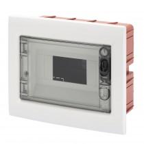 Centralino Protetto da Incasso 8 Moduli IP40 con Porta Fumé GW40604