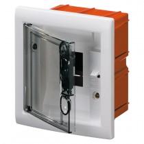 Centralino Protetto da Incasso 4 Moduli IP40 con Porta Fumé GW40602
