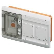 Quadretto Combinato da Incasso Stagno Grigio Modulare 1+2 Moduli IP55 GW48686
