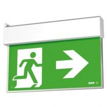 Segnaletica Illuminata di Sicurezza Up Led Exit Visibilita' 20mt Beghelli 4320
