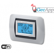 Cronotermostato Wifi display LCD ad incasso Bianco Geca