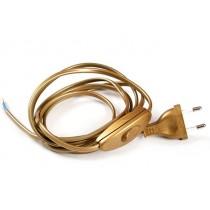 Cablaggio con Spina e Interruttore 1,5Mt Oro N500/OR
