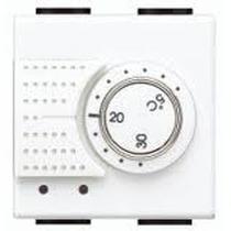 Termostato Ambiente Riscaldamento / Condizionamento 2 Posti Serie Civili Bticino LivingLight N4441