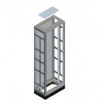 Quadro in metallo ALPHA800 IP55 senza porta 180x600x40 8GK24206KK24