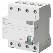 Interruttore Differenziale puro 4 poli 40A 0,5 Tipo A Siemens 5SV37446