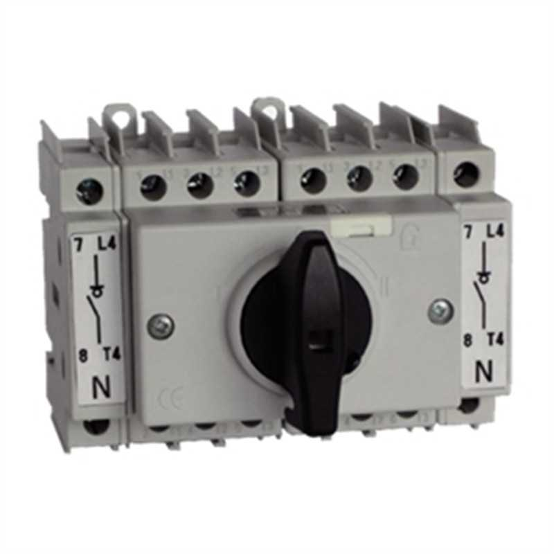 Commutatore modulare 1-0-2 4 Poli 32A Grandezza 1 3KA71014AF04