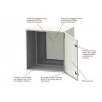 Quadro Alpha Box per automazione in metallo 400x300x200 IP66 Siemens 8GM10403BB30