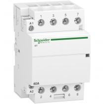 Contattore 40A 4 NA Bobina 230VAC 2 Moduli Schneider A9C20844