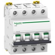 Magnetotermico 4 Poli 10A 4,5KA Curva C 4 Moduli Schneider A9F64410