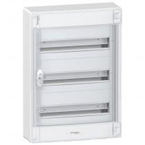 Centralino a Parete 54 Moduli 3 File IP40 Porta Fume' Bianco Schneider PRA21318