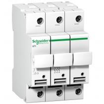 Sezionatore Portafusibili 3 Poli 32A 10,3X38 3 Moduli Schneider A9N15656