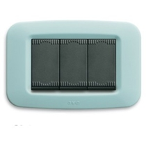 """Placca in tecnopolimero per scatola rettangolare """"Yes 45"""" Azzurro soft"""