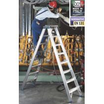 Scala Professionale a Doppia Salita in Alluminio Frigerio SCA 6015/08