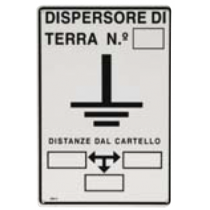 Cartello Indicatore di Messa a Terra Sati 3110962