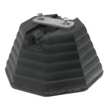 Base in Cemento per Conduttori Tondi e Piatti Sati 3111441