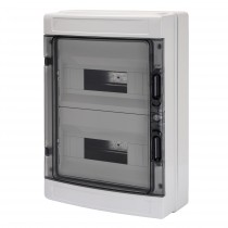 Centralino da parete Porta IP65 Trasparente 24 Moduli Gewiss GW40104