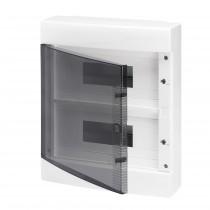 Centralino da parete porta trasparente IP40 24 Moduli Gewiss GW40047